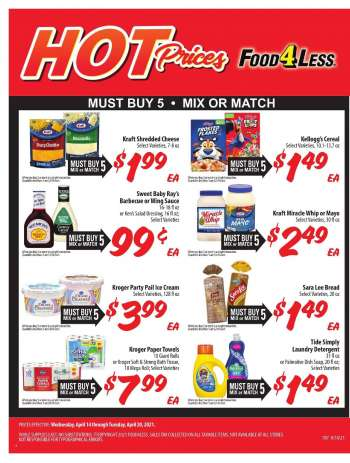 Food 4 Less Flyer - 04.14.2021 - 04.20.2021.