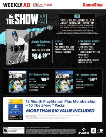 GameStop Flyer - 04.11.2021 - 04.17.2021.