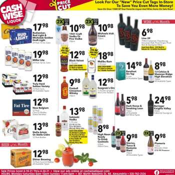 Cash Wise Liquor Only Flyer - 04.18.2021 - 04.24.2021.