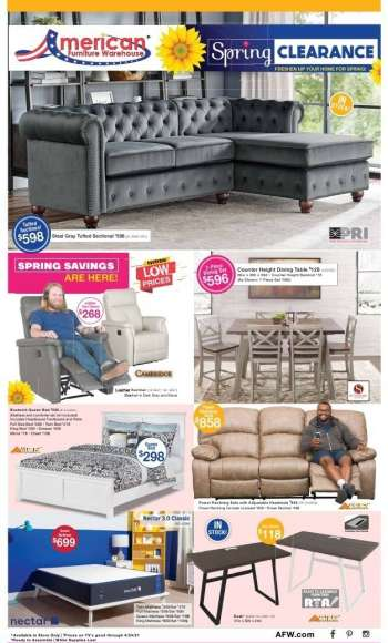 American Furniture Warehouse Ad