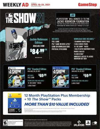 GameStop Flyer - 04.18.2021 - 04.24.2021.