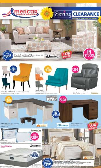 American Furniture Warehouse Flyer - 04.25.2021 - 05.01.2021.