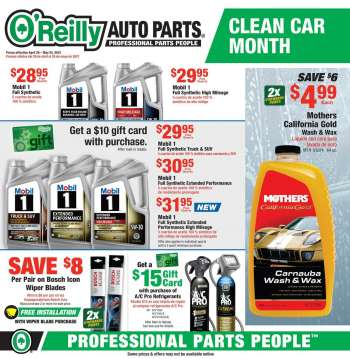 O'Reilly Auto Parts Flyer - 04.28.2021 - 05.25.2021.