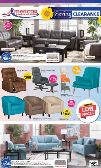 American Furniture Warehouse Flyer - 05.02.2021 - 05.08.2021.