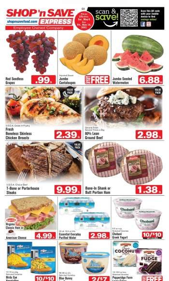 Shop 'n Save Express Flyer - 05.08.2021 - 05.14.2021.