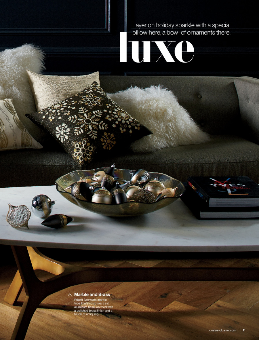 Crate & Barrel Flyer - 11.01.2017 - 11.30.2017 - Sales products - bowl, pillow, ornament. Page 11.