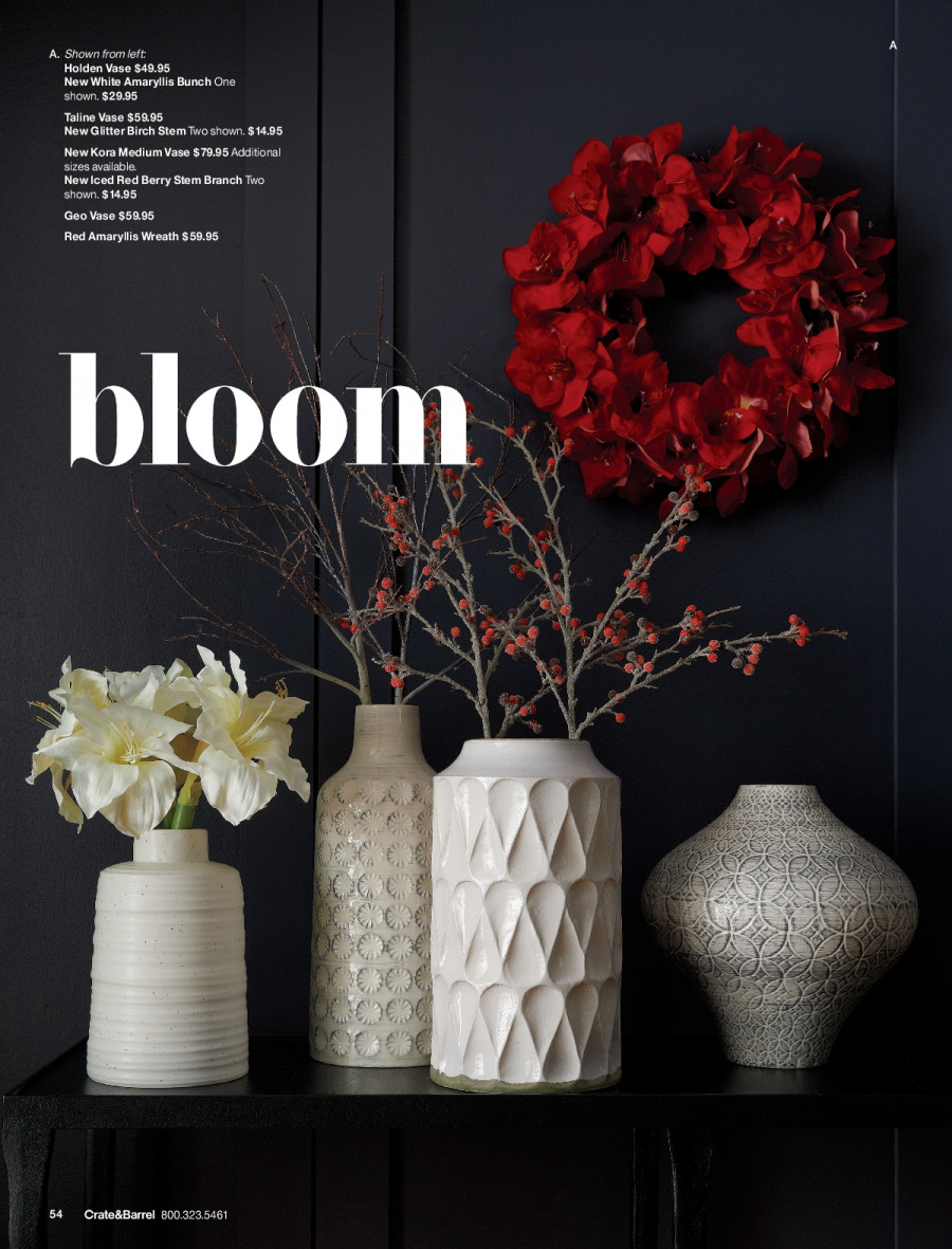 Crate & Barrel Flyer - 11.01.2017 - 11.30.2017 - Sales products - crate, glitter, wreath. Page 54.