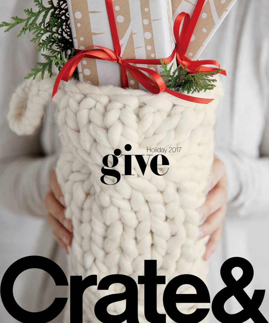Crate & Barrel Flyer  - 12.01.2017 - 12.31.2017. Page 1.