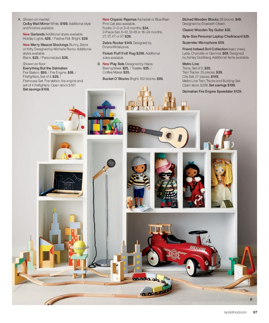 Crate & Barrel Flyer - 12.01.2017 - 12.31.2017 - Sales products - coffee, coffee maker, colby cheese, doll, laptop, microphone, mirror, mixer, rug, stockings, chalkboard, pajama, organic. Page 67.