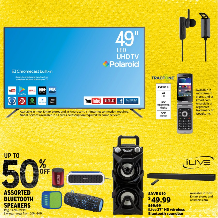 Kmart Flyer - 12.26.2017 - 01.06.2018 - Sales products - android, bluetooth, camera, google, laptop, lte, soundbar, speaker, tablet, uhd tv. Page 32.