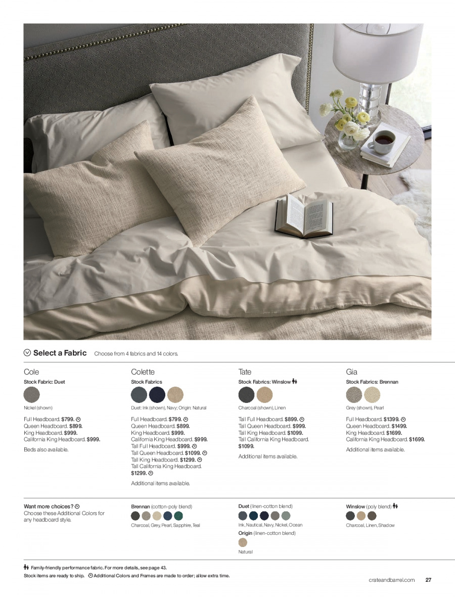Crate & Barrel Flyer  - 02.01.2018 - 02.28.2018. Page 27.