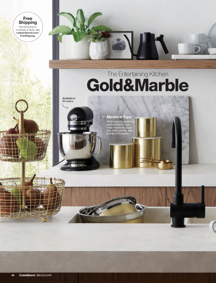 Crate & Barrel Flyer - 02.01.2018 - 02.28.2018 - Sales products - crate, kitchen. Page 40.