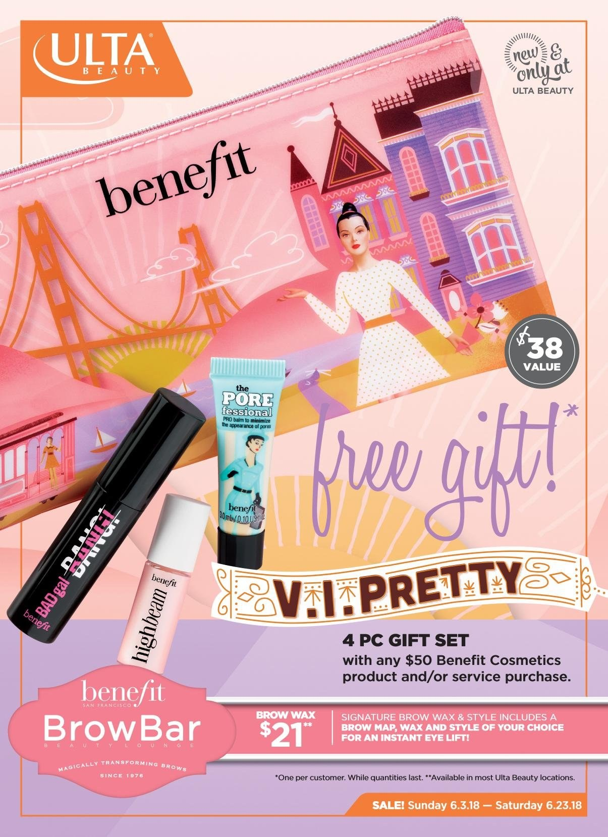Ulta Beauty Flyer  - 06.03.2018 - 06.23.2018. Page 1.