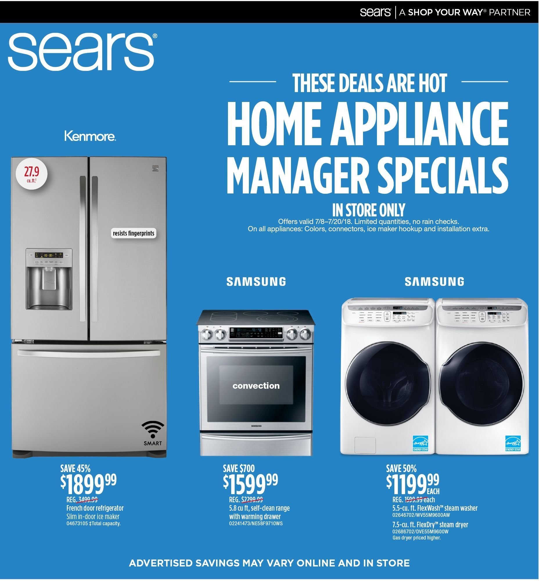 Current ad Sears