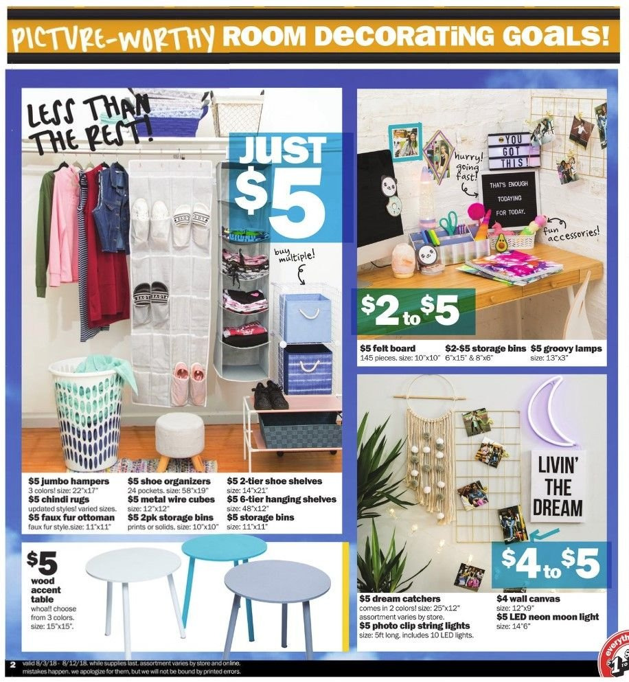Five Below Flyer - 08.03.2018 - 08.12.2018 - Sales products - accessories, led light, rug, shelf, shelves, storage, table, ottoman. Page 2.