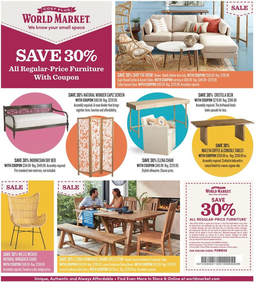 World Market Flyer  - 08.04.2018 - 08.13.2018. Page 1.