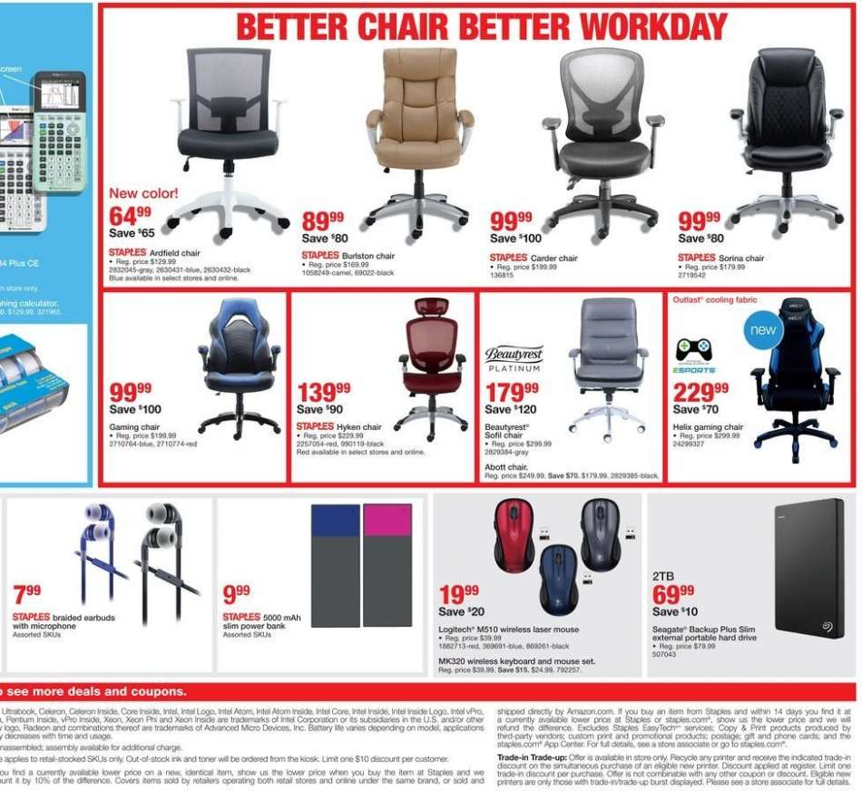 Fabulous Staples Flyer 08 05 2018 08 11 2018 Weekly Ads Us Camellatalisay Diy Chair Ideas Camellatalisaycom