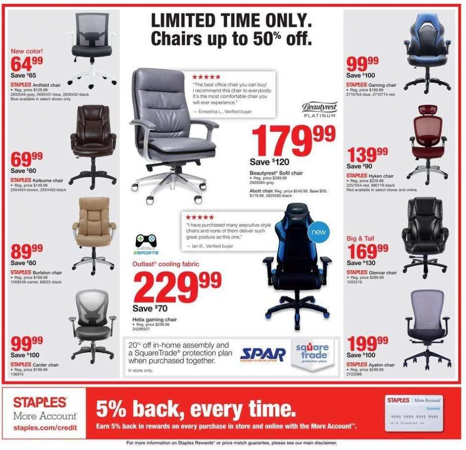 Awesome Staples Flyer 08 12 2018 08 18 2018 Weekly Ads Us Beatyapartments Chair Design Images Beatyapartmentscom