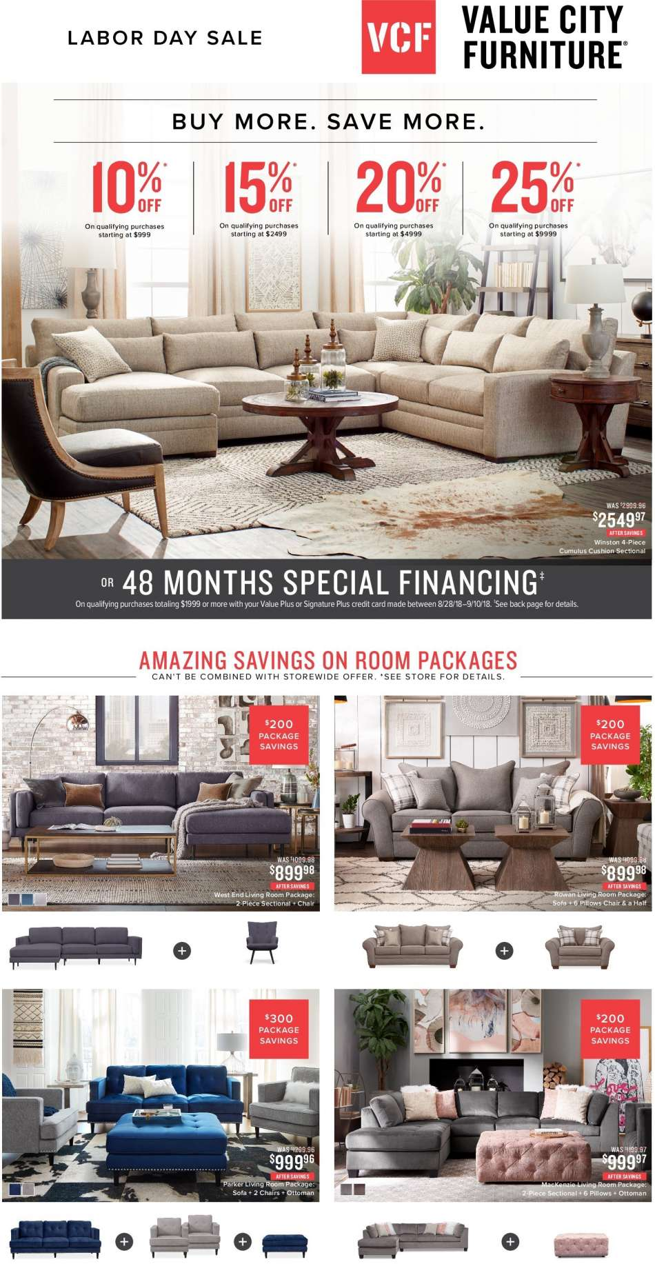 Value City Furniture Flyer 08 28 2018 09 10 2018 Weekly Ads Us