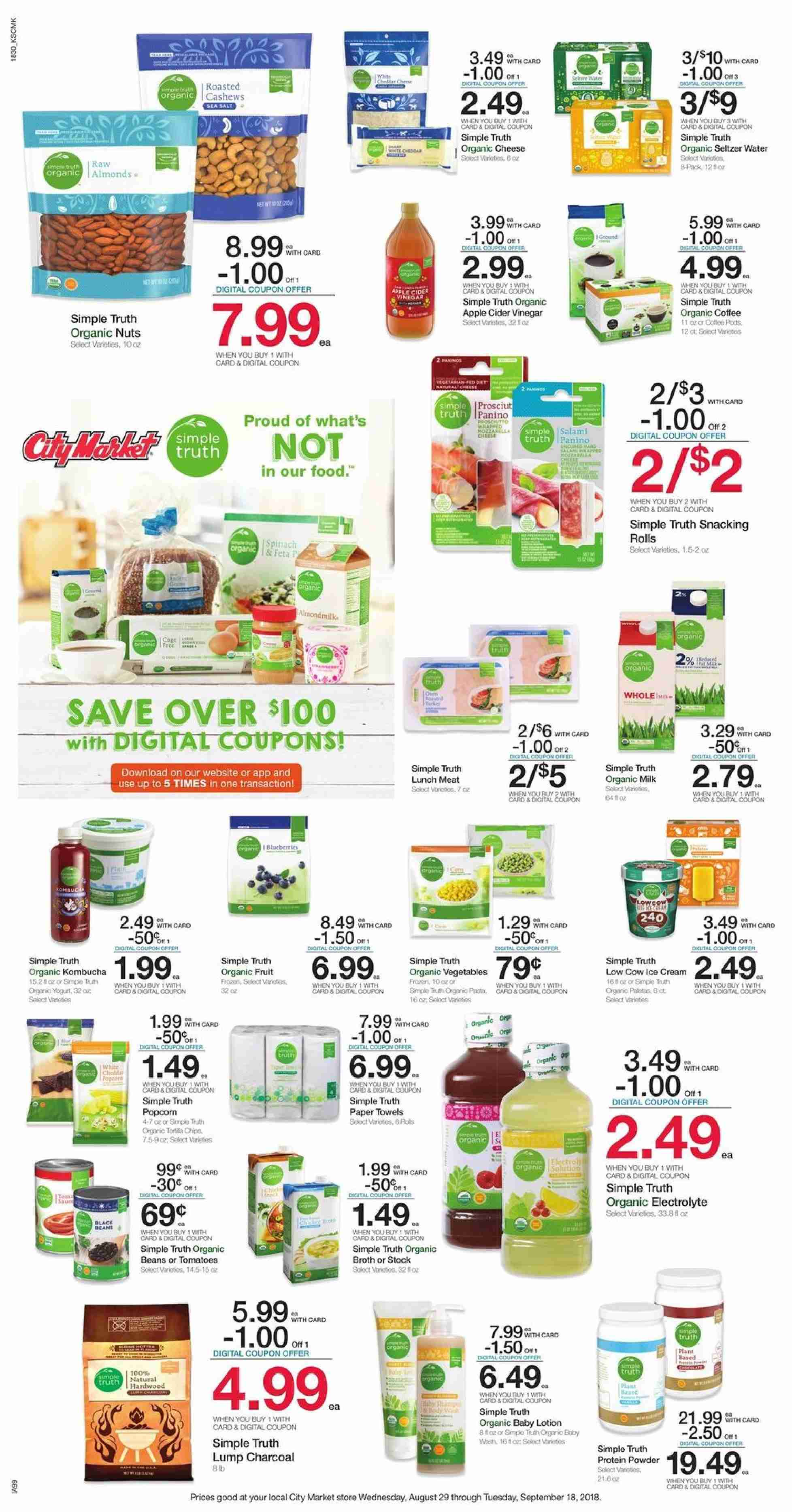 City Market Flyer  - 08.29.2018 - 09.18.2018. Page 1.
