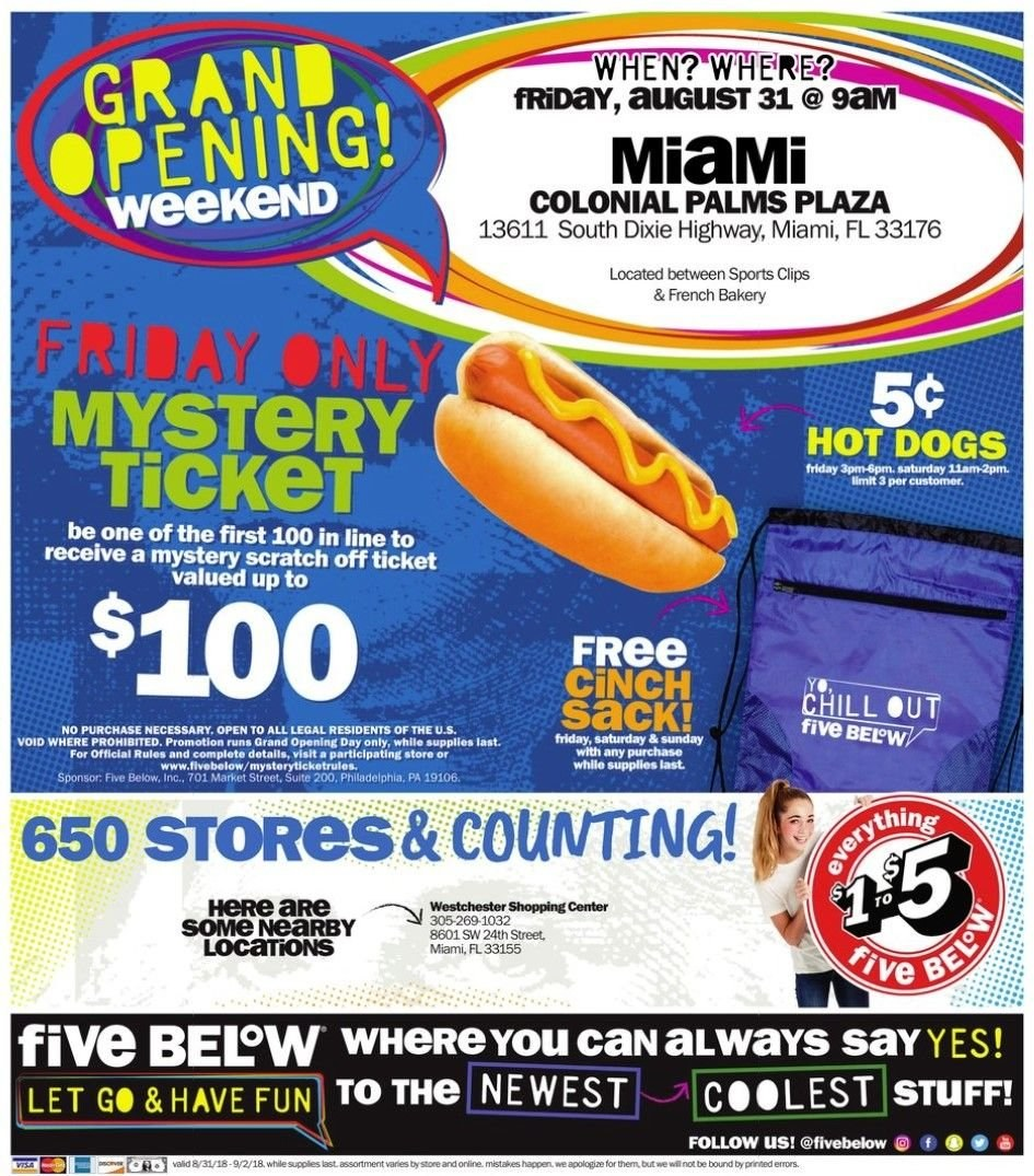 Five Below Flyer - 08.31.2018 - 09.02.2018 - Sales products - always, grand, hot dog, philadelphia. Page 4.