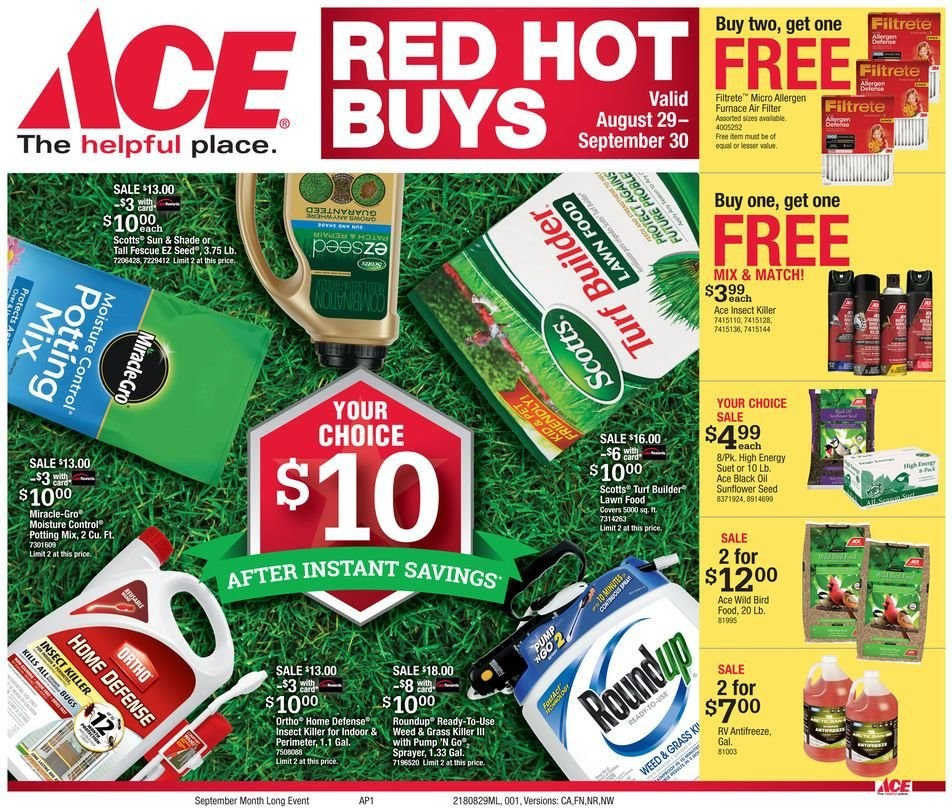 Current ad Ace Hardware