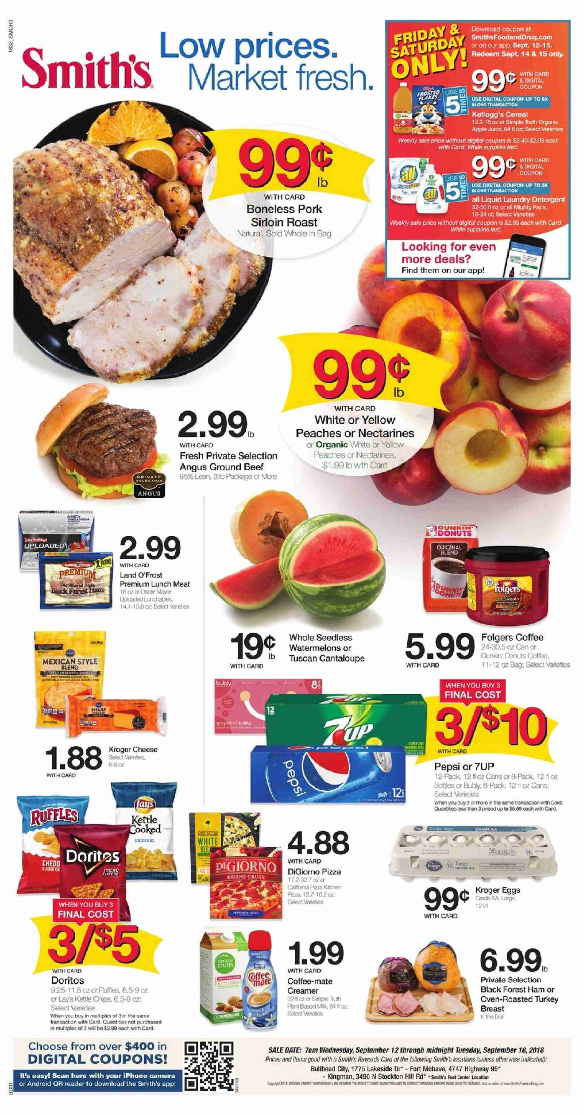 Smith's Flyer  - 09.12.2018 - 09.18.2018. Page 1.