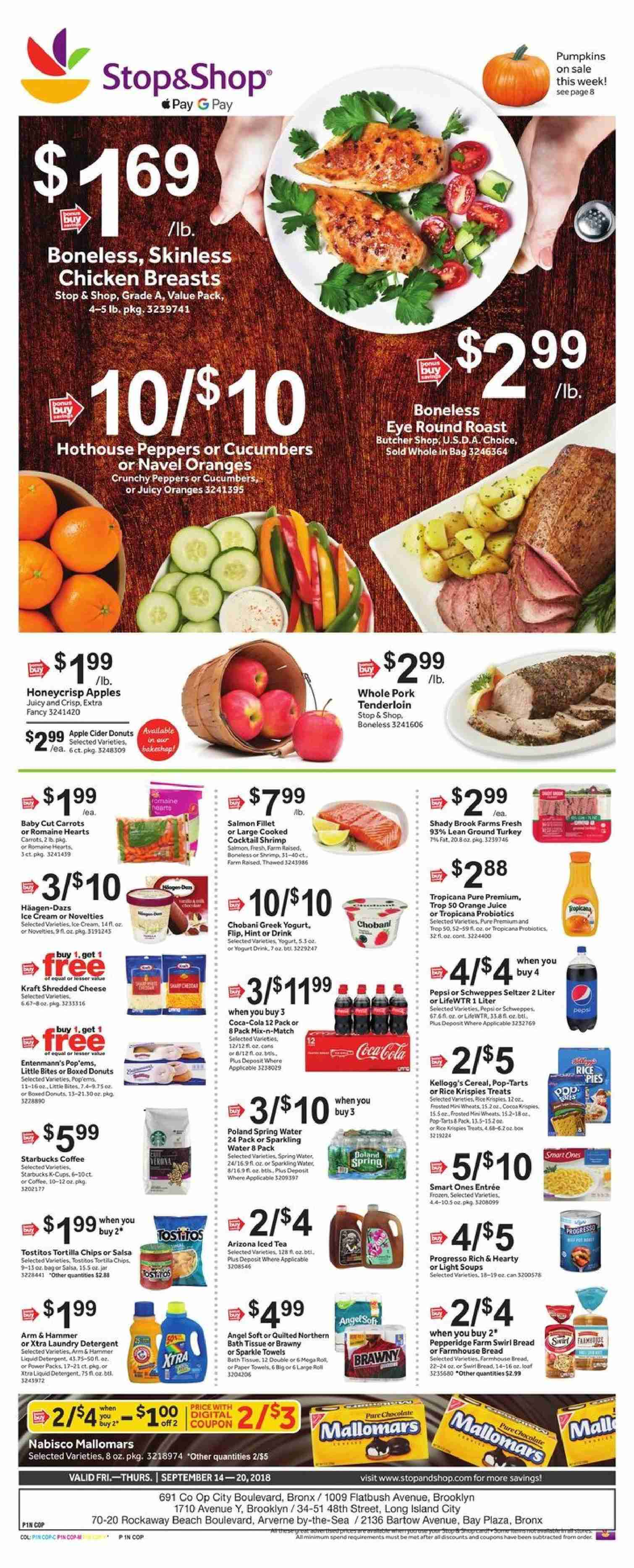 Stop & Shop Flyer  - 09.14.2018 - 09.20.2018. Page 1.