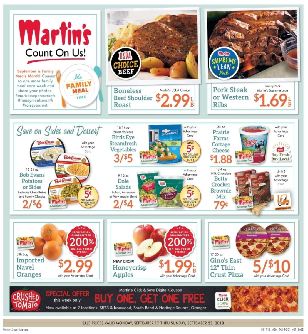 Current ad Martin's