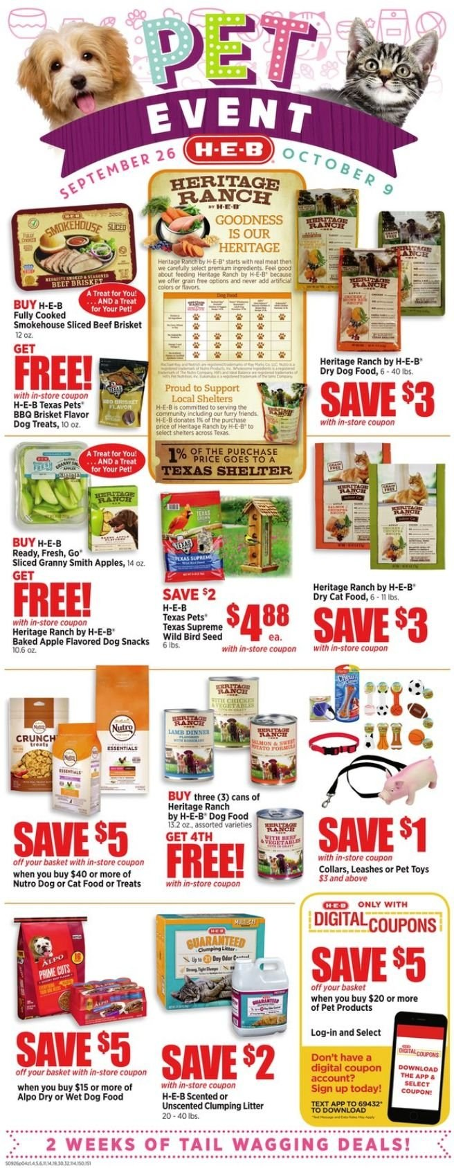 H-E-B Flyer  - 09.26.2018 - 10.02.2018. Page 6.