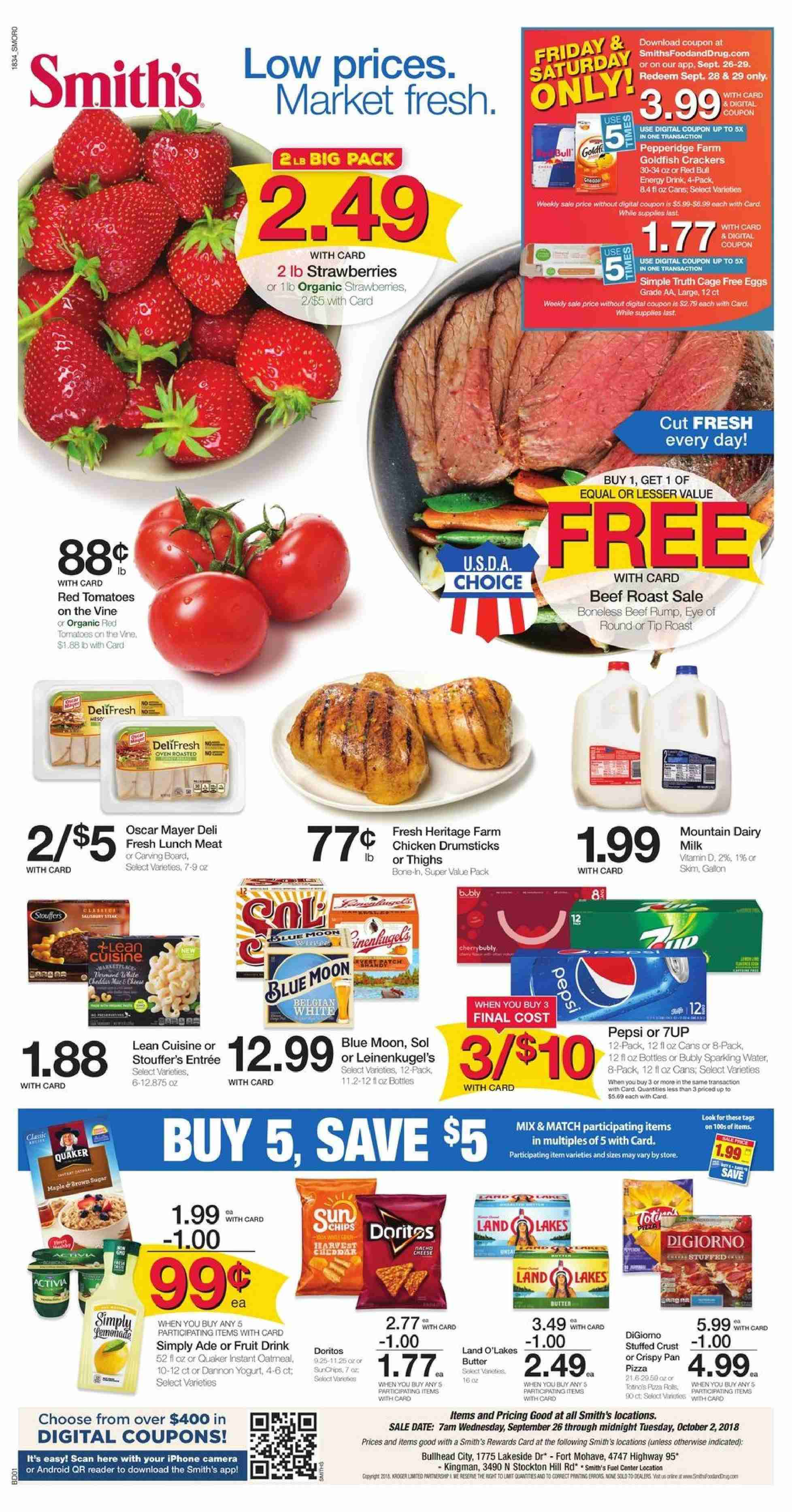 Smith's Flyer  - 09.26.2018 - 10.02.2018. Page 1.