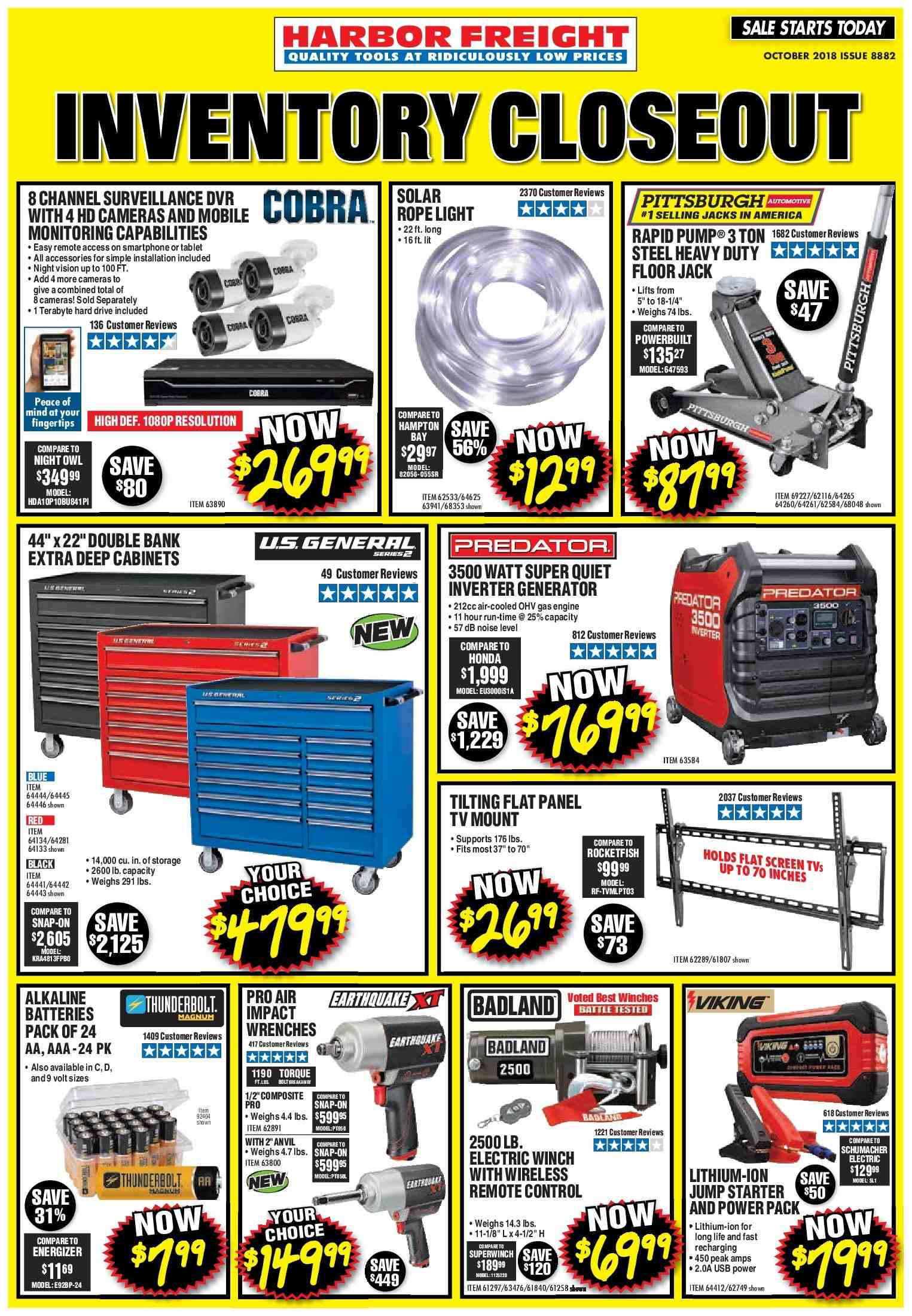 Harbor Freight flyer 10.01.2018 - 10.31.2018   Weekly-ads.us