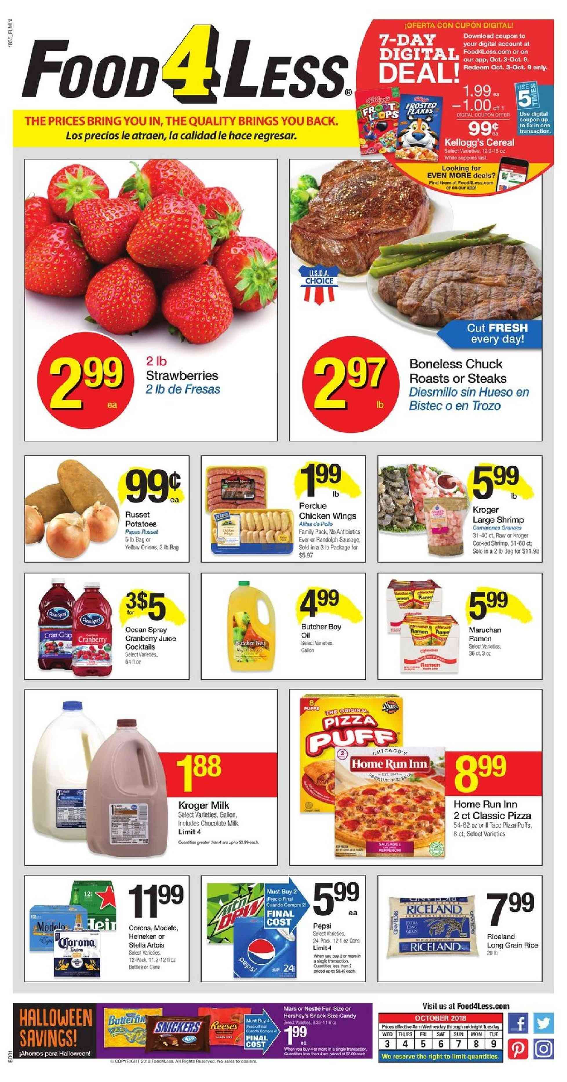 Current ad Food 4 Less - Weekly Ads