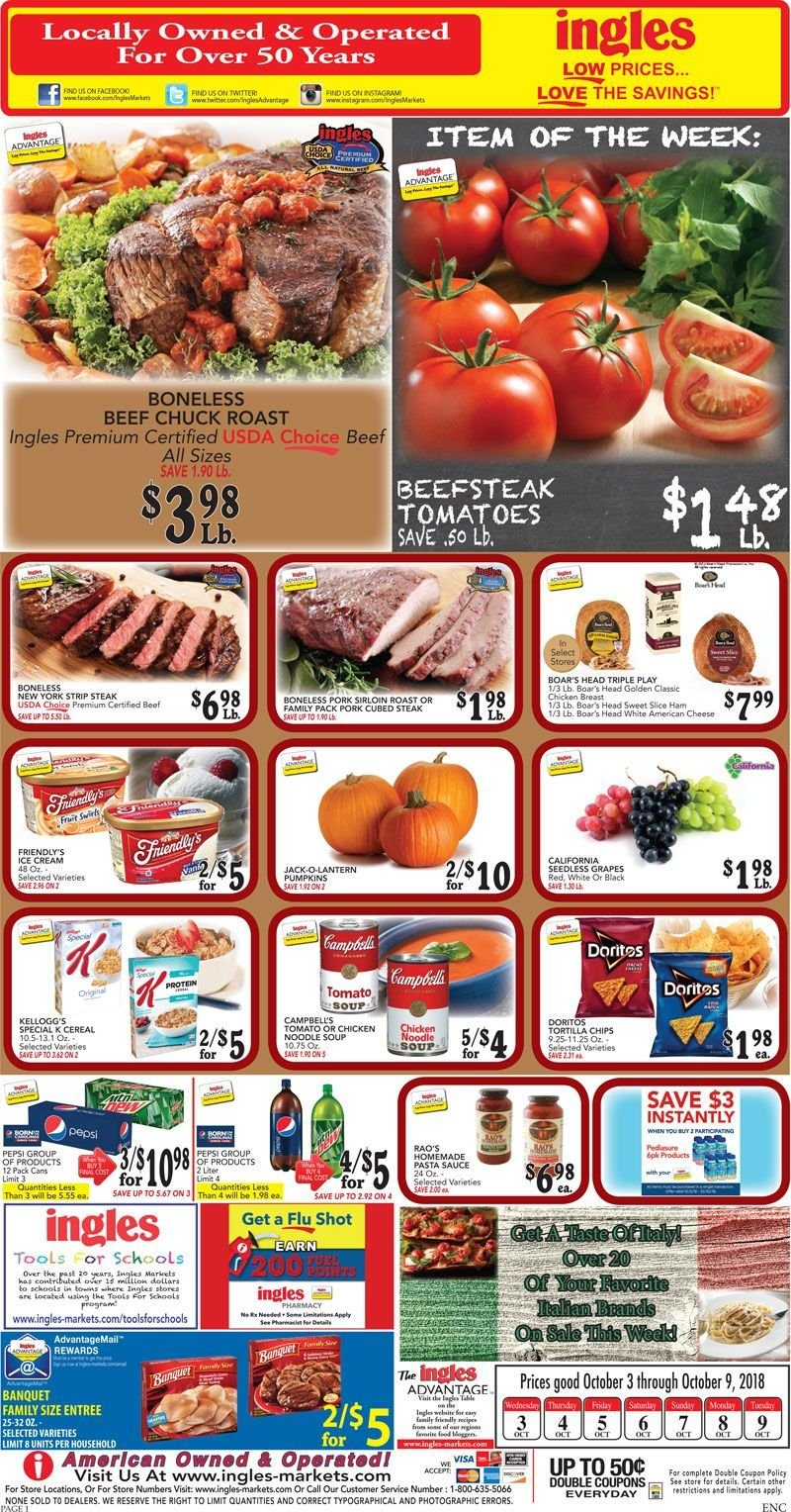 Ingles Flyer  - 10.03.2018 - 10.09.2018. Page 1.