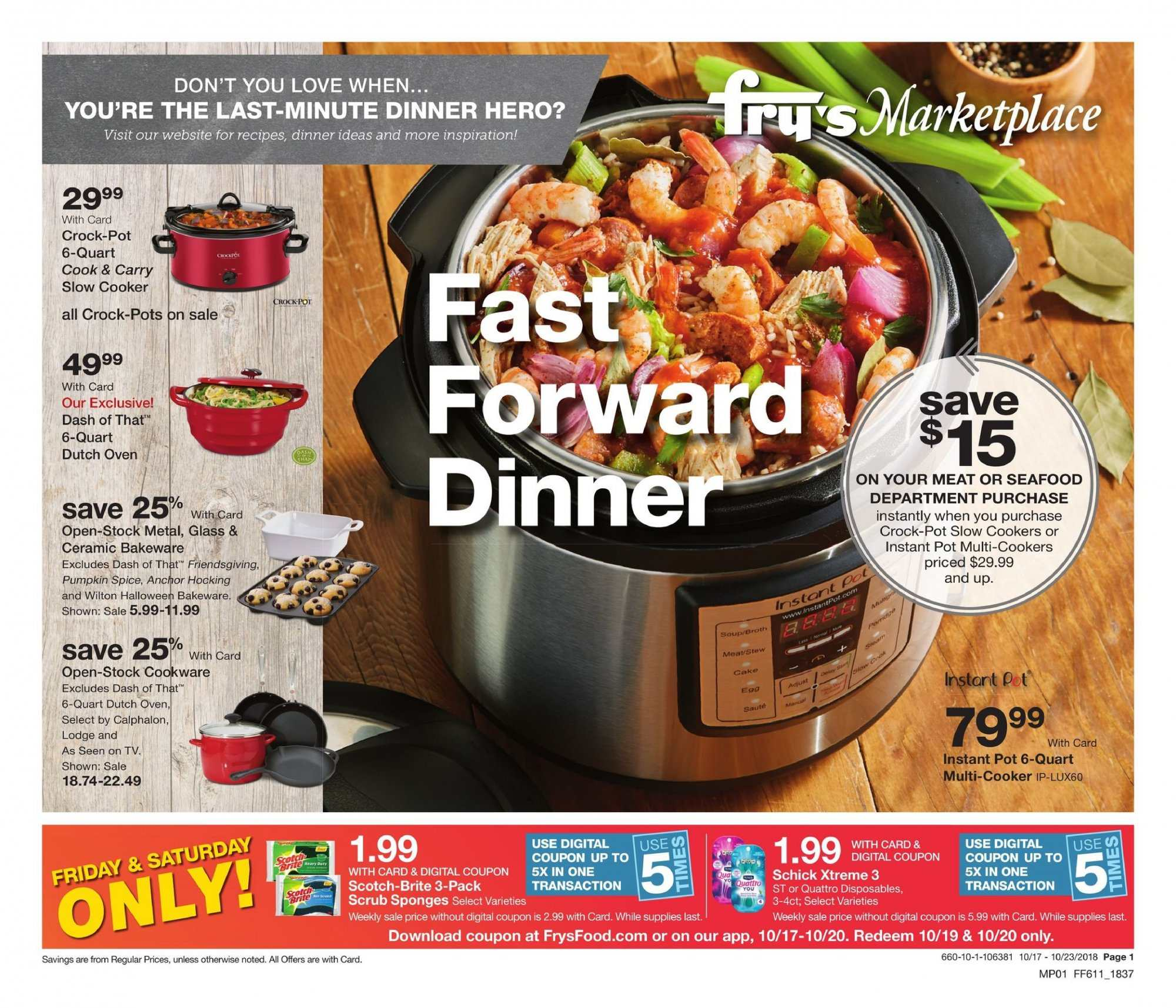 Fry's Flyer  - 10.17.2018 - 10.23.2018. Page 1.