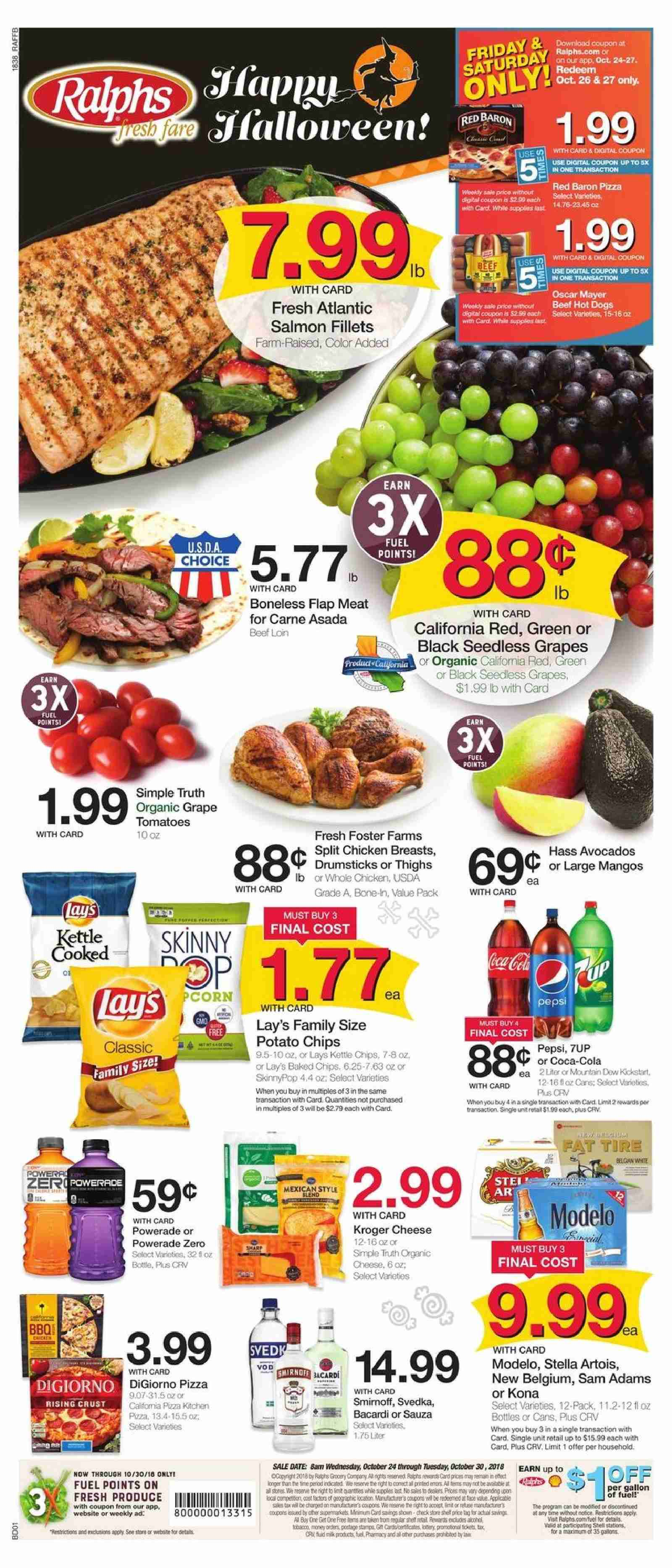 Ralphs Flyer  - 10.24.2018 - 10.30.2018. Page 1.