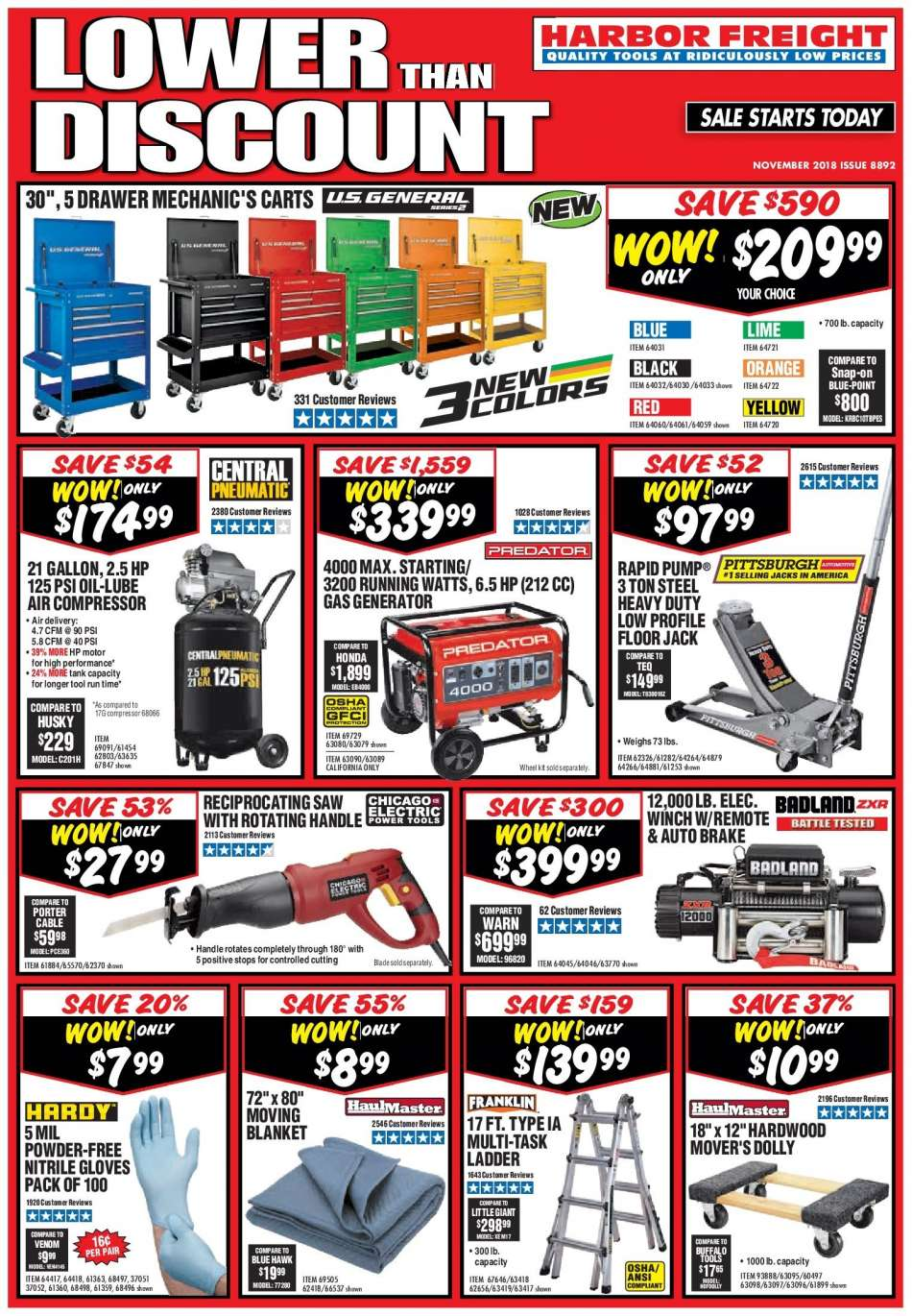 Harbor Freight flyer 11 01 2018 - 11 30 2018 | Weekly-ads us
