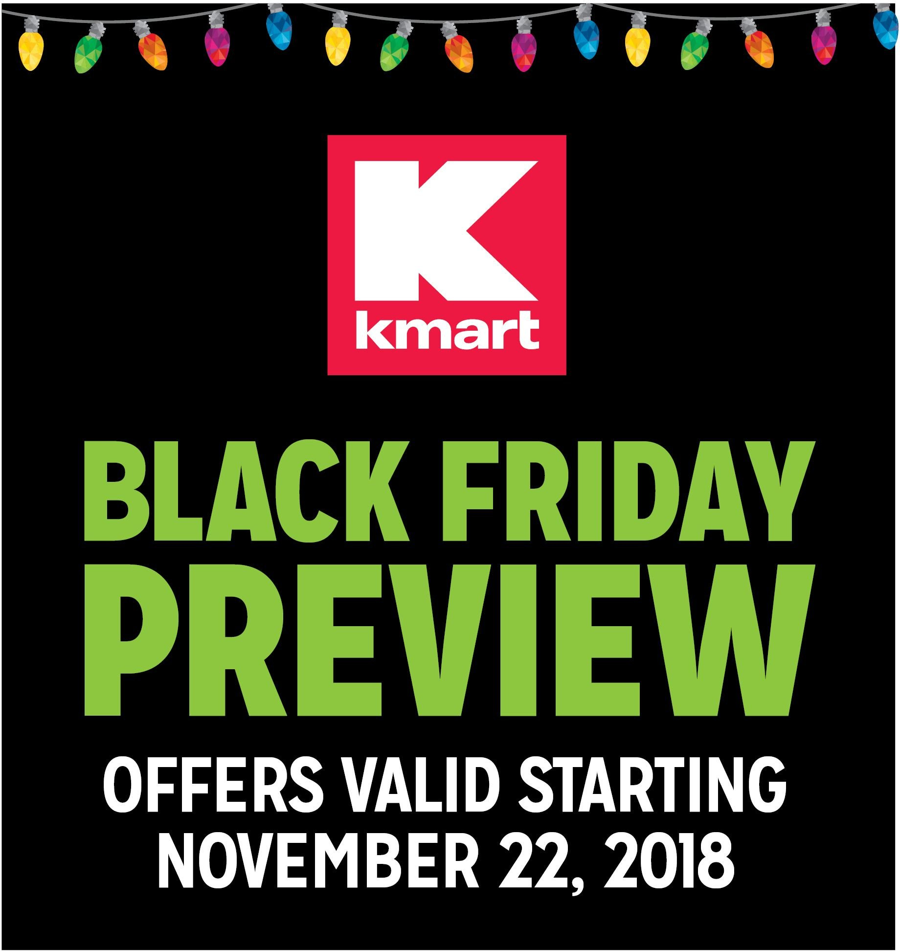 Kmart Flyer  - 11.22.2018 - 11.25.2018. Page 1.