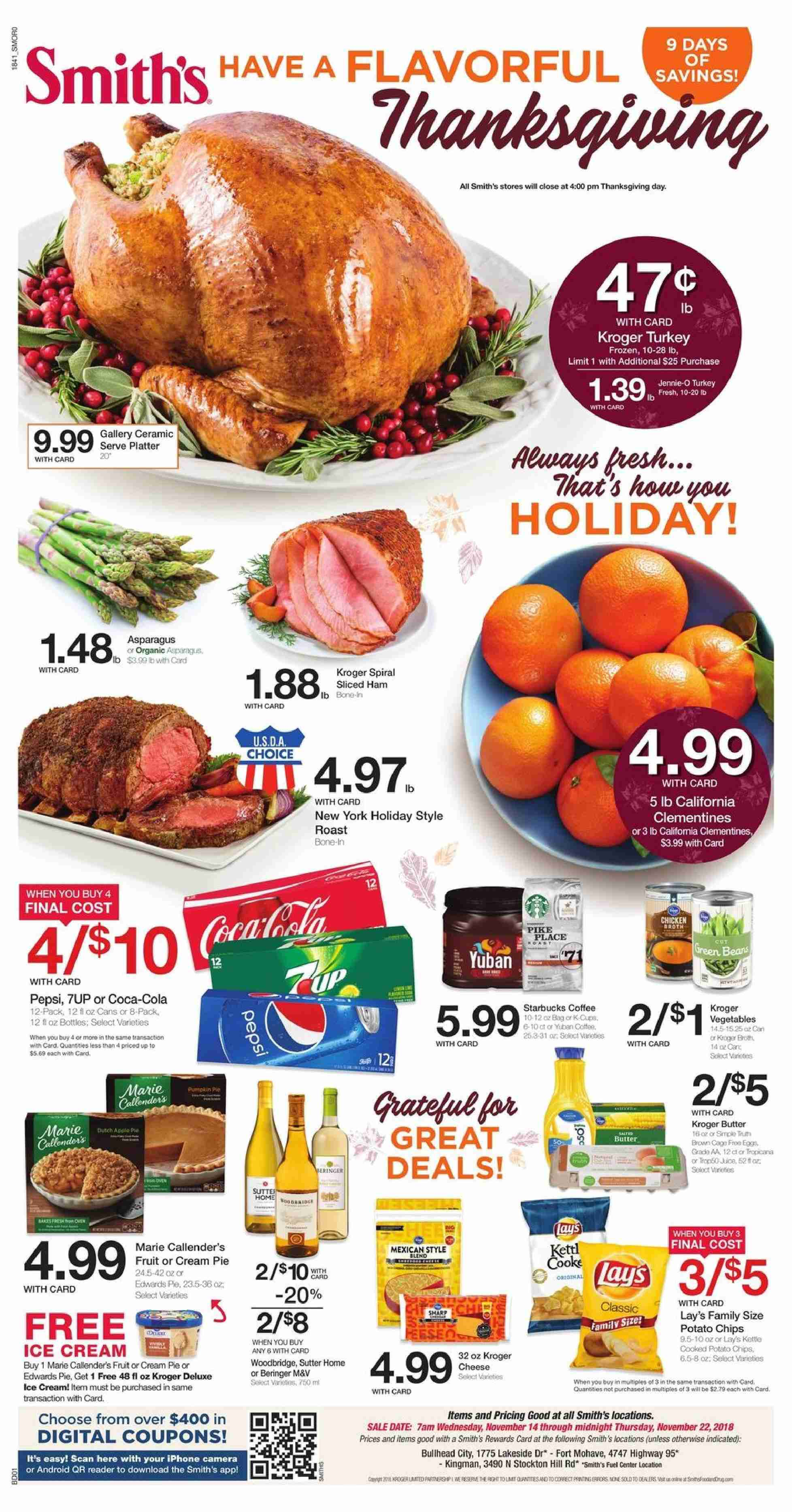 Smith's Flyer  - 11.14.2018 - 11.22.2018. Page 1.