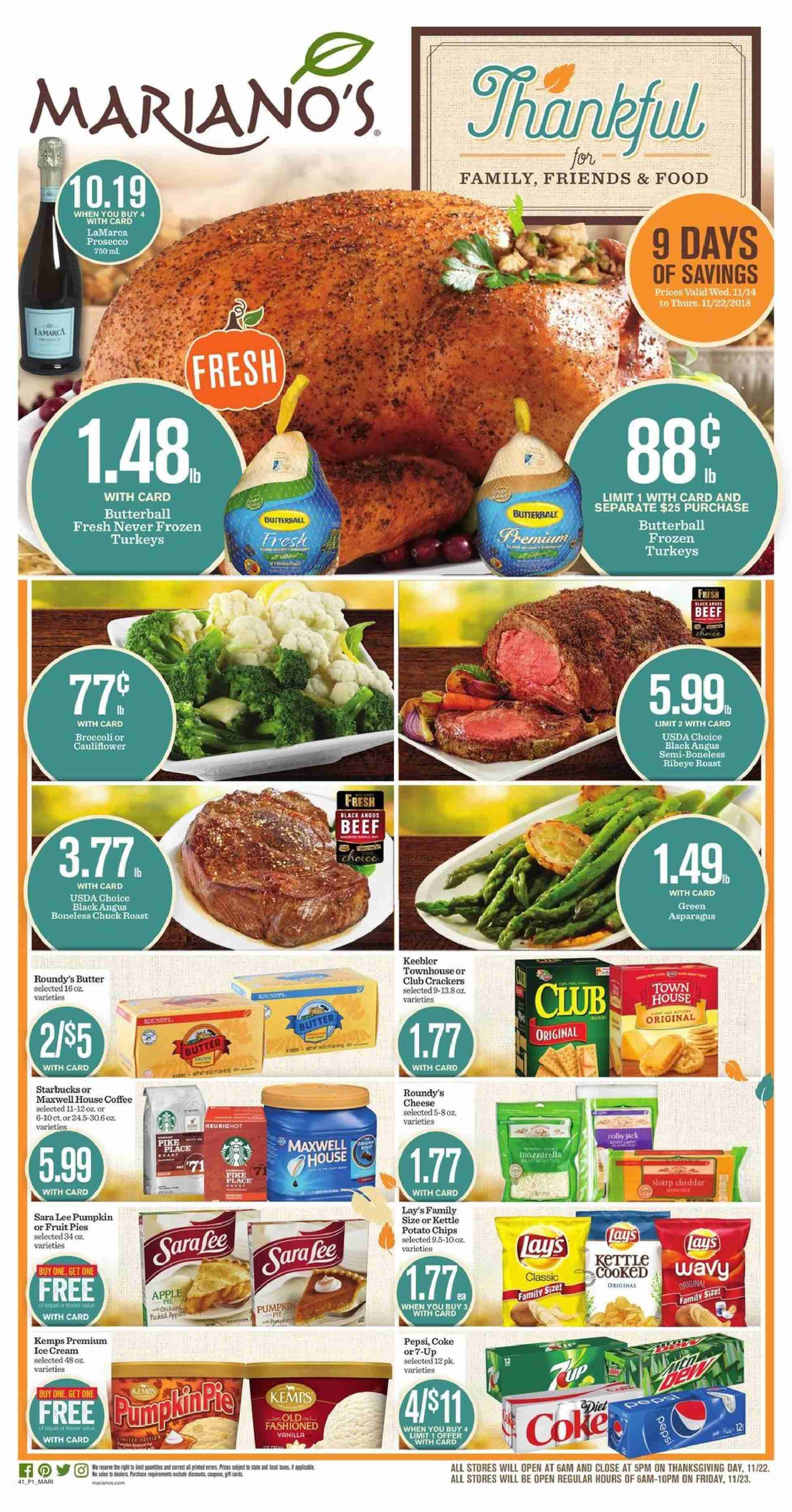 Mariano's flyer 11.14.2018 - 11.22.2018   Weekly-ads.us