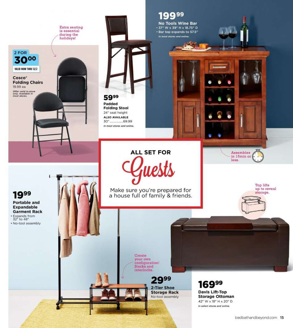 Sensational Bed Bath Beyond Flyer 11 09 2018 12 31 2018 Weekly Ads Us Ocoug Best Dining Table And Chair Ideas Images Ocougorg