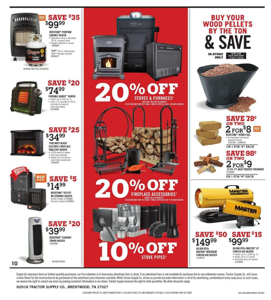 Tractor Supply Co  flyer 11 21 2018 - 11 25 2018 | Weekly-ads us