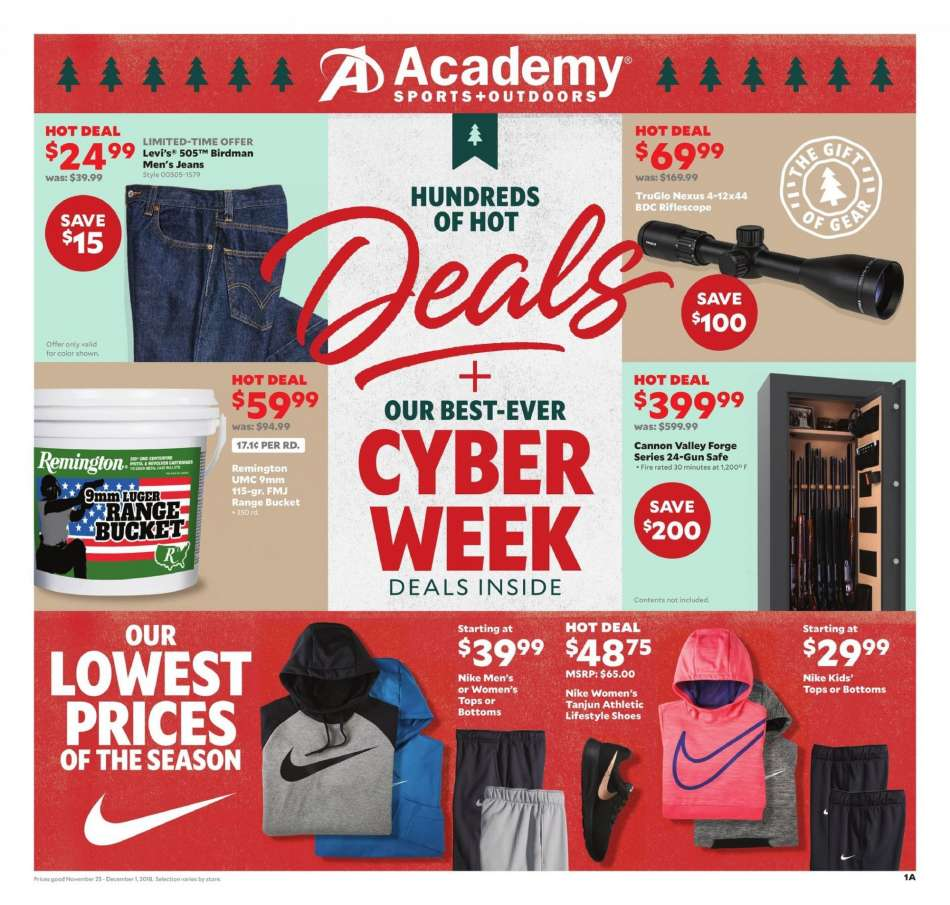 b81c573fdcedf Academy Sports Flyer - 11.25.2018 - 12.01.2018 - Sales products - 9mm