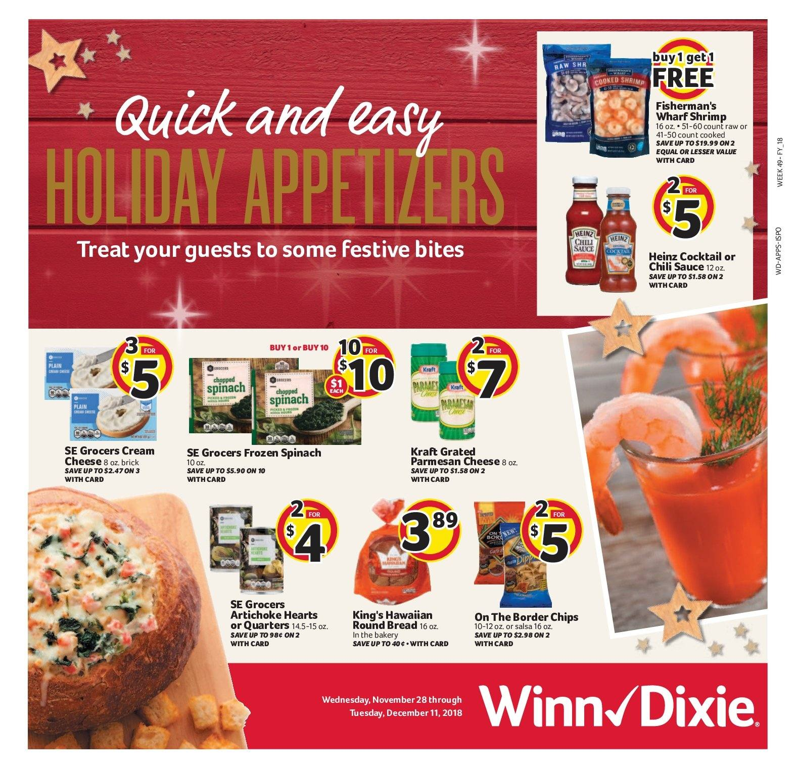 Winn Dixie Flyer  - 11.28.2018 - 12.11.2018. Page 1.