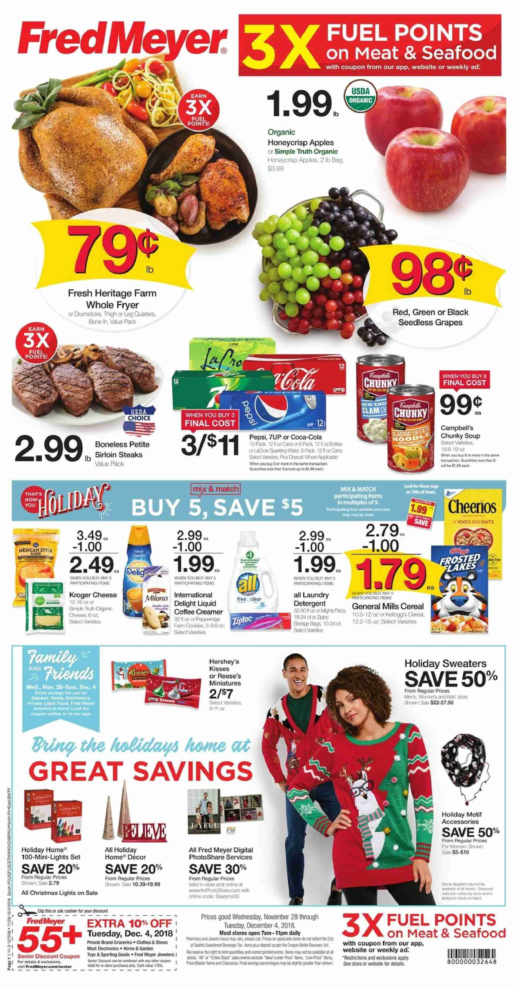 Fred Meyer Flyer  - 11.28.2018 - 12.04.2018. Page 1.