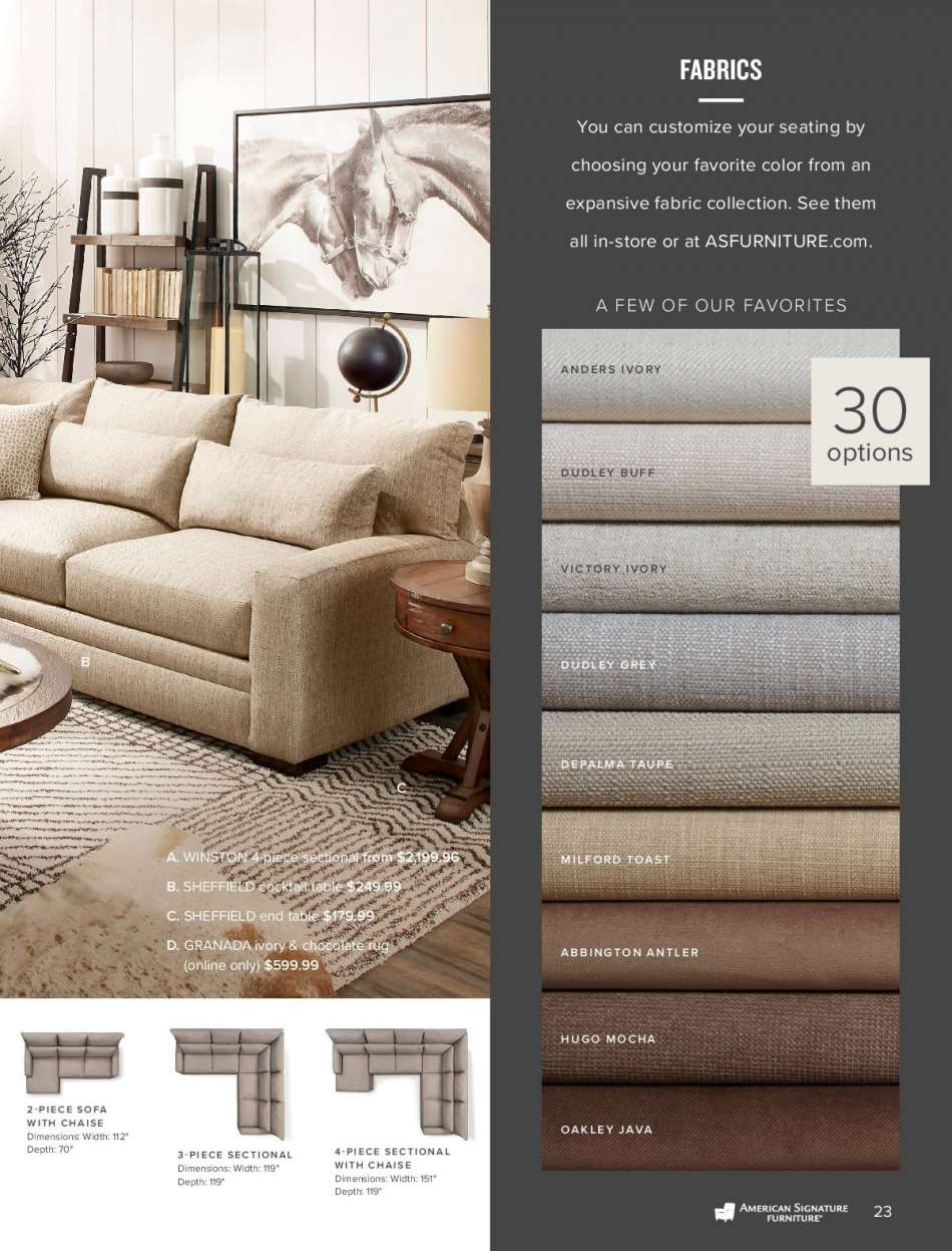 Fine American Signature Furniture Flyer Weekly Ads Us Home Interior And Landscaping Oversignezvosmurscom