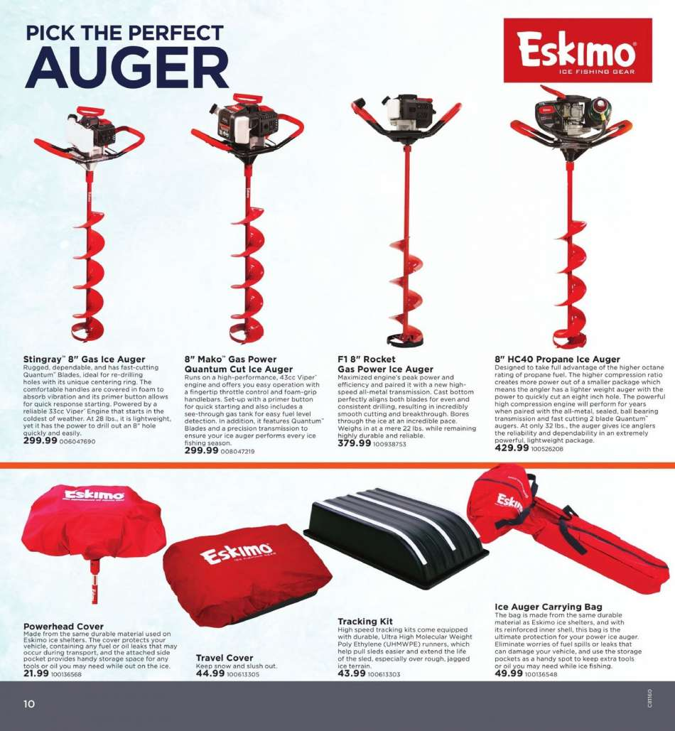 Where Are Eskimo Ice Augers Made