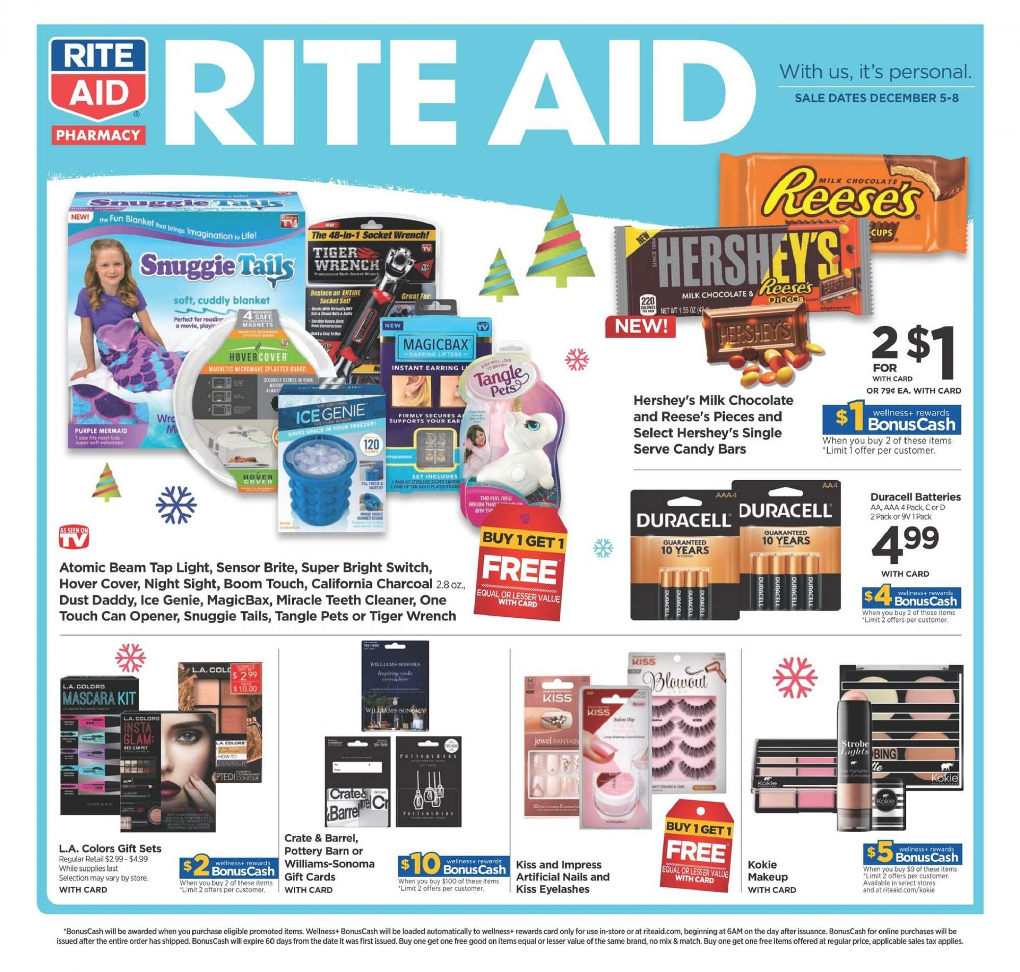 RITE AID Flyer  - 12.05.2018 - 12.08.2018. Page 1.