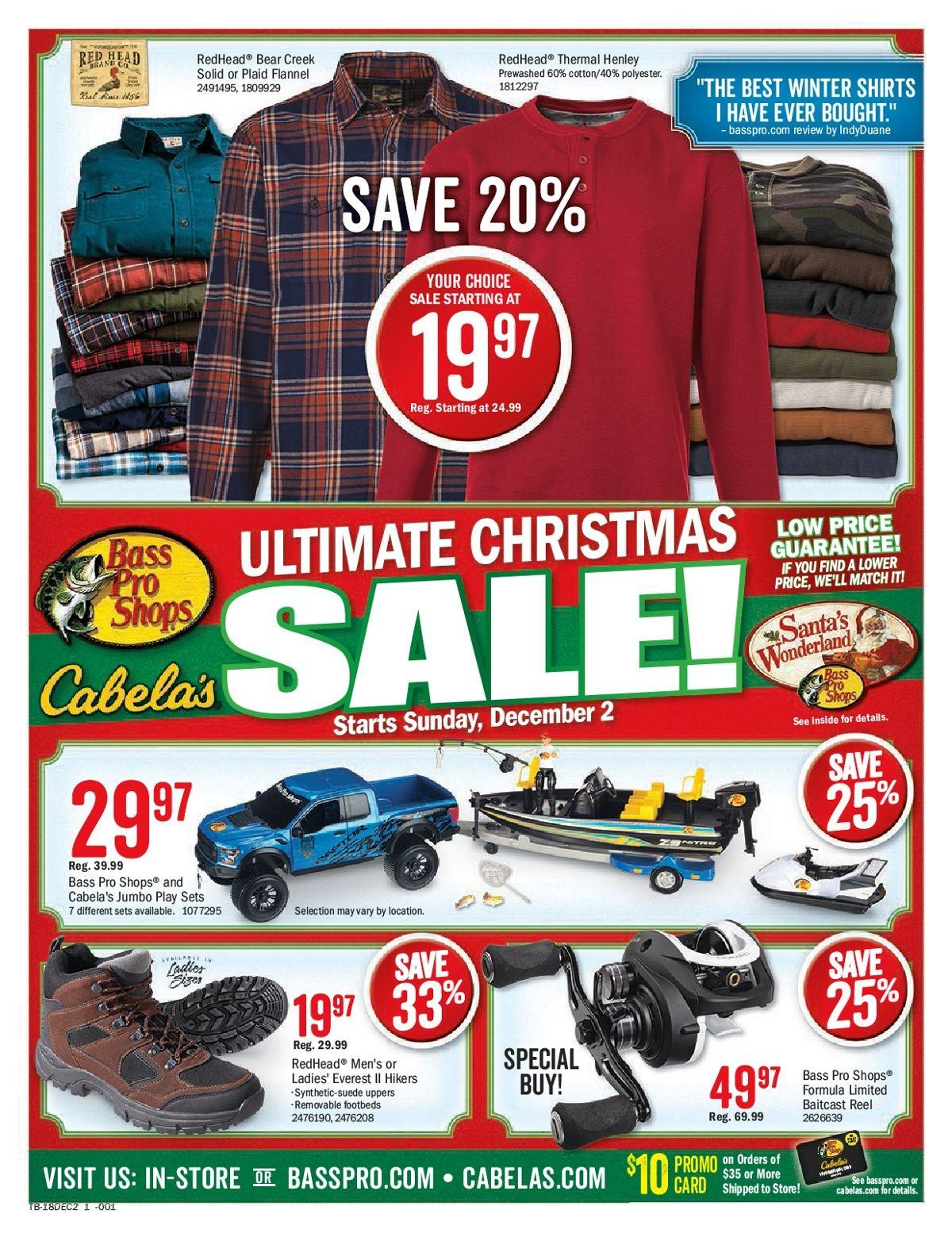 Bass Pro Shops Flyer  - 12.02.2018 - 12.09.2018. Page 1.