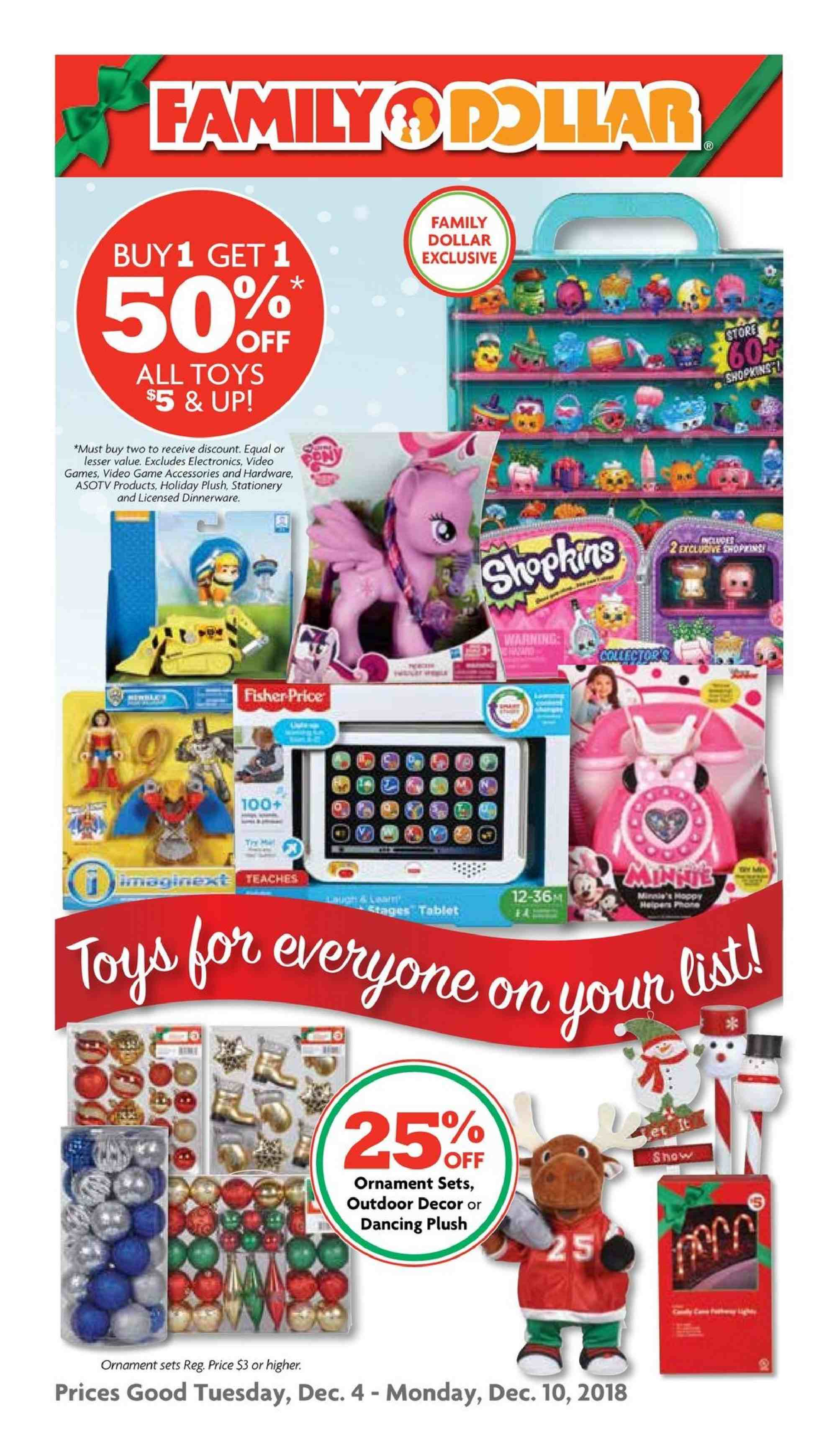 Family Dollar Flyer  - 12.04.2018 - 12.10.2018. Page 1.